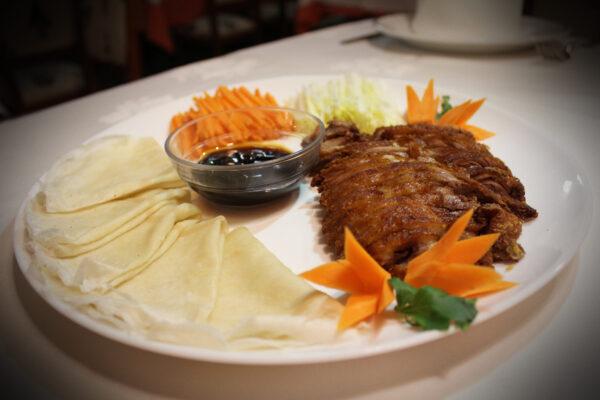 Pato asado estilo pekin